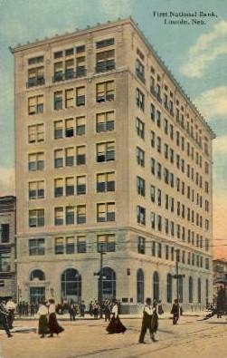First National Bank - Lincoln, Nebraska NE Postcard