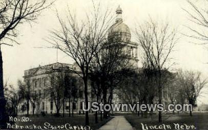 Real Photo - Nebraska State Capitol - Lincoln Postcard