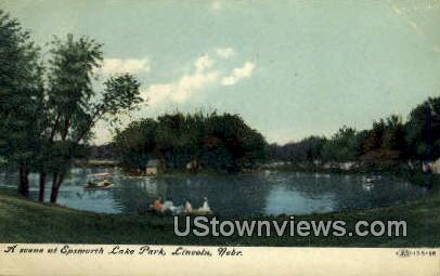Epsworth Lake Park - Lincoln, Nebraska NE Postcard
