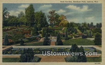 Rock Garden, Antelope Park - Lincoln, Nebraska NE Postcard