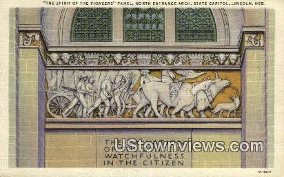 Spirit of the Pioneers, State Capitol - Lincoln, Nebraska NE Postcard