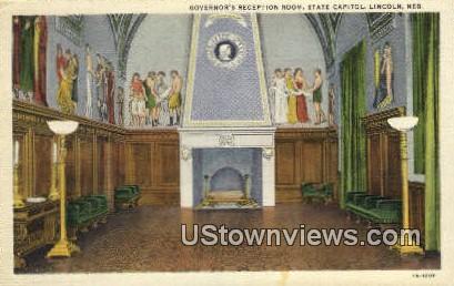 Governor's Reception Room - Lincoln, Nebraska NE Postcard