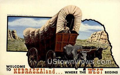 Conestoga Wagon - Lincoln, Nebraska NE Postcard