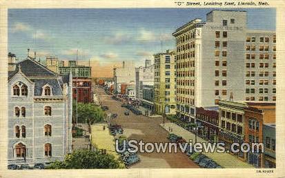 O Street - Lincoln, Nebraska NE Postcard