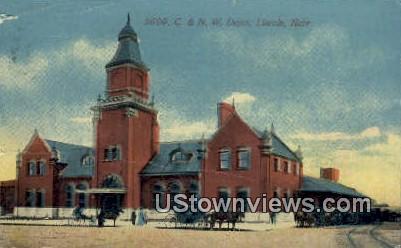 C & N W Depot - Lincoln, Nebraska NE Postcard