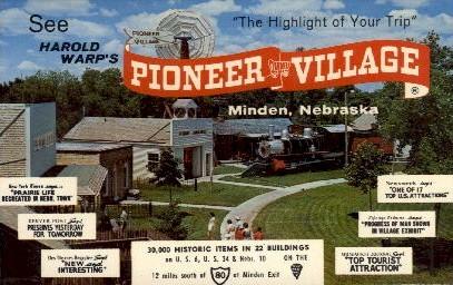 Pioneer Village - Minden, Nebraska NE Postcard