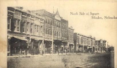 North Side of Square - Minden, Nebraska NE Postcard
