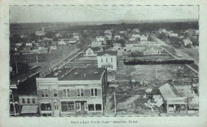 Birds eye view, East - Minden, Nebraska NE Postcard