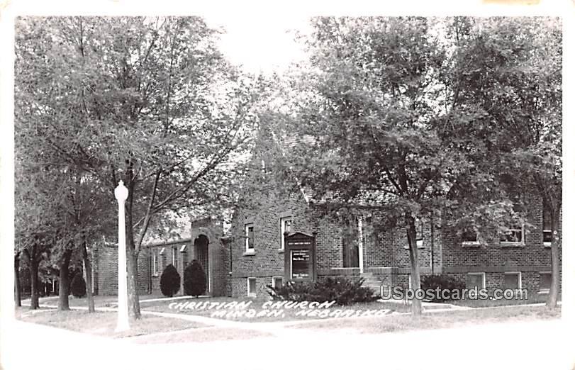 Christian Church - Minden, Nebraska NE Postcard