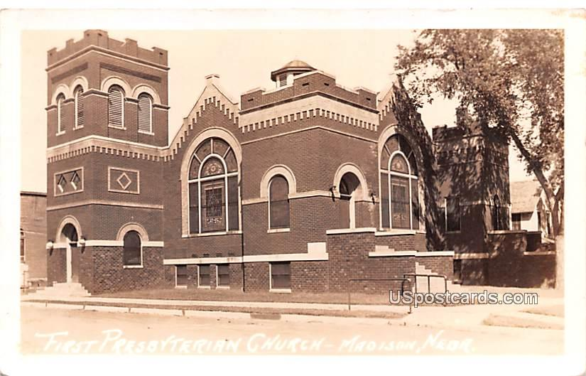 First Presbyterian Church - Madison, Nebraska NE Postcard