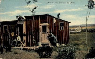 A Bachelor's Dream on his Claim - Misc, Nebraska NE Postcard