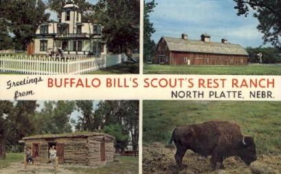 Buffalo Bill's Scout's Rest Ranch - North Platte, Nebraska NE Postcard