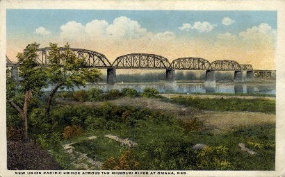New Union Pacific Bridge - Omaha, Nebraska NE Postcard