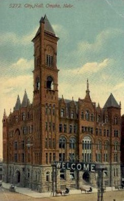 City Hall - Omaha, Nebraska NE Postcard