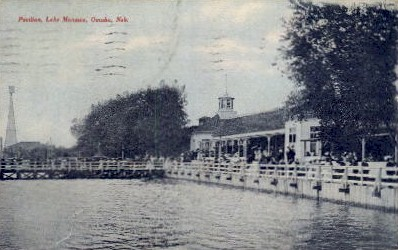 Pavilion, Lake Manawa - Omaha, Nebraska NE Postcard