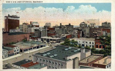 Bird's Eye View of Omaha - Nebraska NE Postcard
