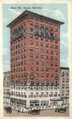 Hotel Hill - Omaha, Nebraska NE Postcard
