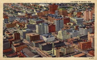 Air View of Omaha - Nebraska NE Postcard