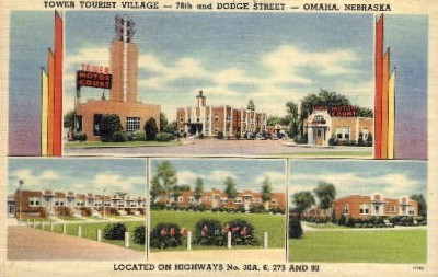 Tower Tourist Village - Omaha, Nebraska NE Postcard