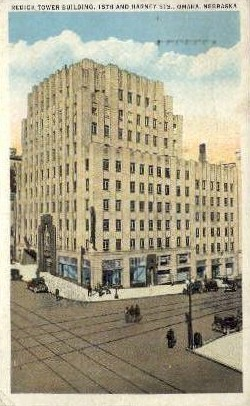 Redick Tower Building - Omaha, Nebraska NE Postcard
