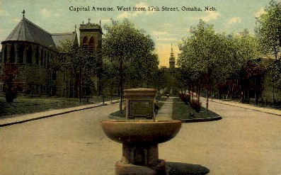 Capital Avenue  - Omaha, Nebraska NE Postcard