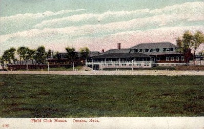 Field Club House - Omaha, Nebraska NE Postcard