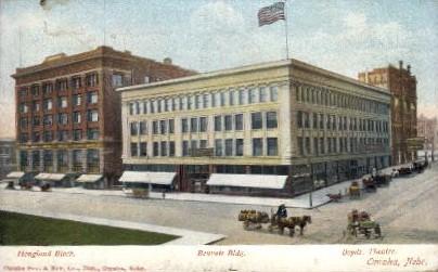 Hougland Block - Omaha, Nebraska NE Postcard