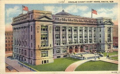 Douglas County Court House - Omaha, Nebraska NE Postcard