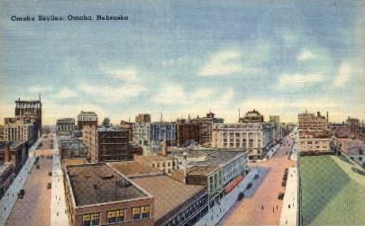 Omaha Skyline - Nebraska NE Postcard