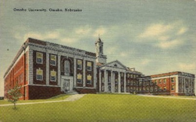 Omaha University - Nebraska NE Postcard