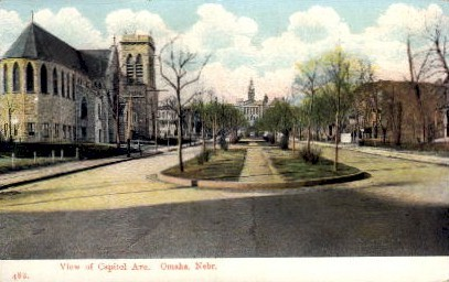 View of Capitol Avenue - Omaha, Nebraska NE Postcard