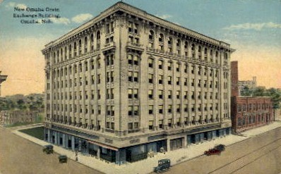 New Omaha Grain Exchange Building - Nebraska NE Postcard