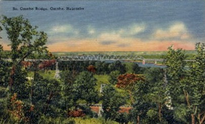 So. Omaha Bridge - Nebraska NE Postcard