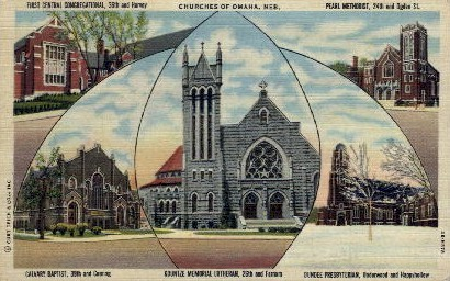 Churches of Omaha - Nebraska NE Postcard