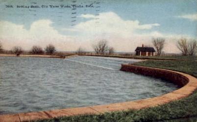 Settling Basin; Florence Water Works - Omaha, Nebraska NE Postcard