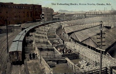 The Unloading Docks - Omaha, Nebraska NE Postcard