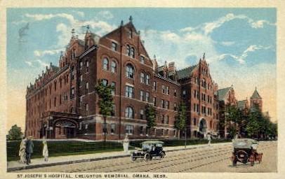 St. Joseph's Hospital, Creighton Memorial - Omaha, Nebraska NE Postcard