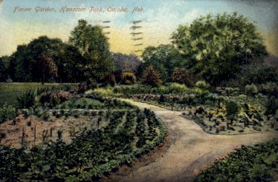 Flower Garden, Hanscom Park - Omaha, Nebraska NE Postcard