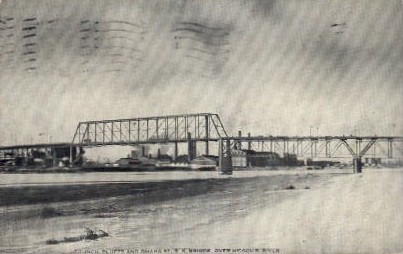 Council Bluffs and Omaha St. R.R. Bridge - Nebraska NE Postcard