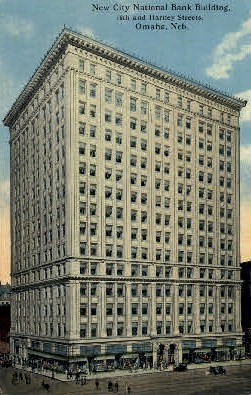 New City National Bank Building - Omaha, Nebraska NE Postcard