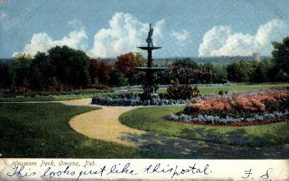 Hauscom Park - Omaha, Nebraska NE Postcard