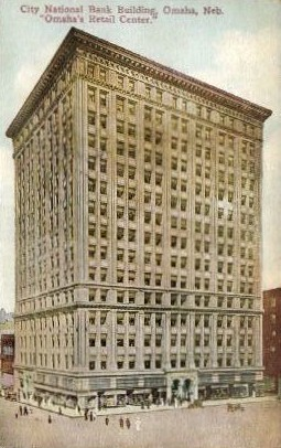 City National Bank Building - Omaha, Nebraska NE Postcard