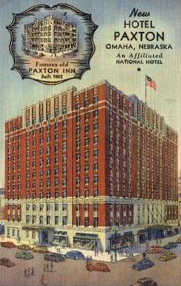 New Hotel Paxton - Omaha, Nebraska NE Postcard