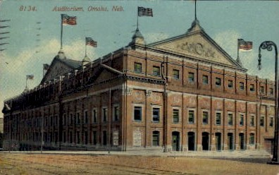 Auditorium - Omaha, Nebraska NE Postcard
