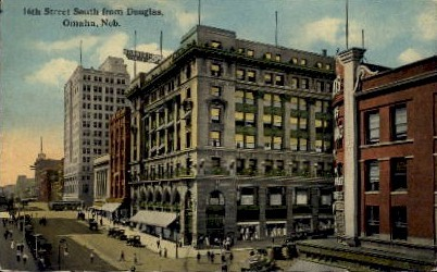 16th Street South from Douglas - Omaha, Nebraska NE Postcard