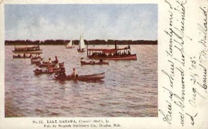 Lake Manawa - Omaha, Nebraska NE Postcard