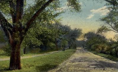 Omaha Boulevard - Nebraska NE Postcard