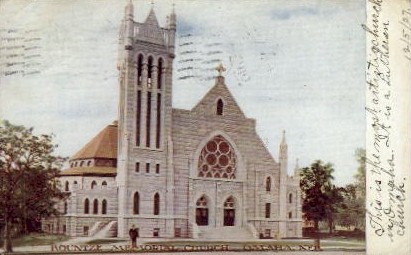 Kountze Memorial Church - Omaha, Nebraska NE Postcard