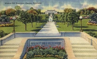 Walnut Hill Resevoir - Omaha, Nebraska NE Postcard