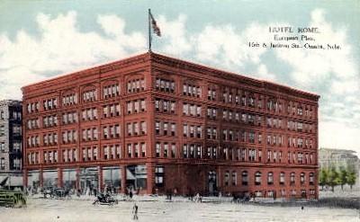 Hotel Rome - Omaha, Nebraska NE Postcard